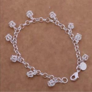 Charms Crown Bracelet Sterling Silver 925